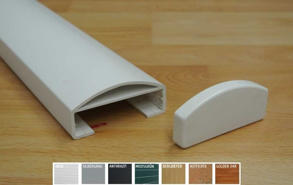 kunststoffprofile pvc handlauf 90 x 40mm. Black Bedroom Furniture Sets. Home Design Ideas