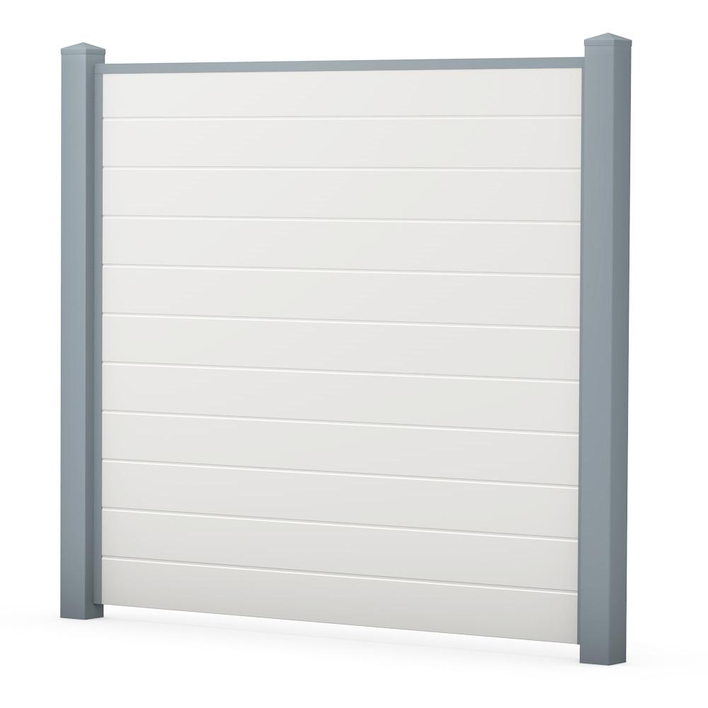 Bild ECOline Sichtschutzelement Weiß-Grau