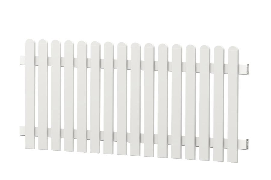 Bild ECOline Sichtschutzelement mit Rankgitter aus Kunststoff komplett in weiß