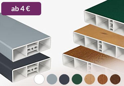 Premium Sichtschutz Sichtaflex Rund aus Qualitäts-Kunststoff in Weiß mit Oberbogen