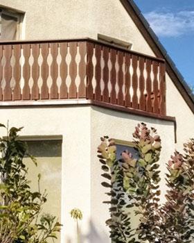Balkonprofile Balkongeländer aus hochwertigen Fenster-Kunststoff PVC