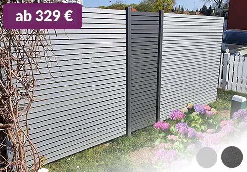 Rhombus Zaun Sichtschutz Aluminium Grau / Anthrazit