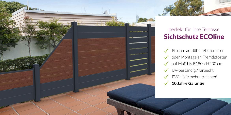 sichtschutz terrasse hier auf ma ab werk online kaufen. Black Bedroom Furniture Sets. Home Design Ideas