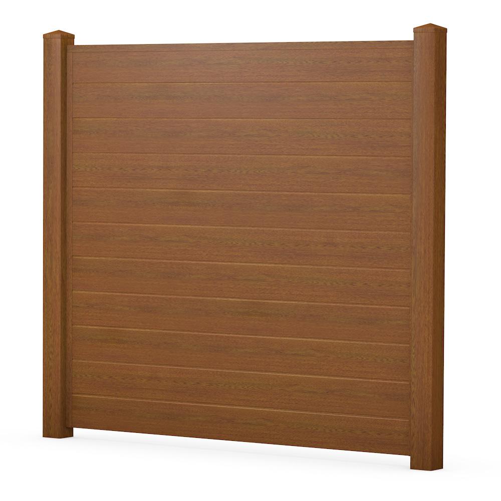 Bild ECOline Sichtschutzelement aus Kunststoff Holzoptik Golden Oak