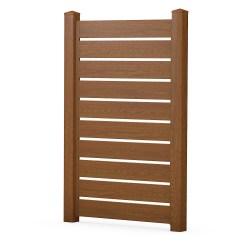 Bild BASICline Sichtschutzelement Zierelement Spaltsichtschutz aus Kunststoff in Holzoptik Golden Oak