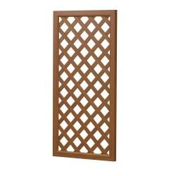 Bild Sichtaflex Sichtschutzelement aus Kunststoff in Holzoptik Golden Oak Rankgitter