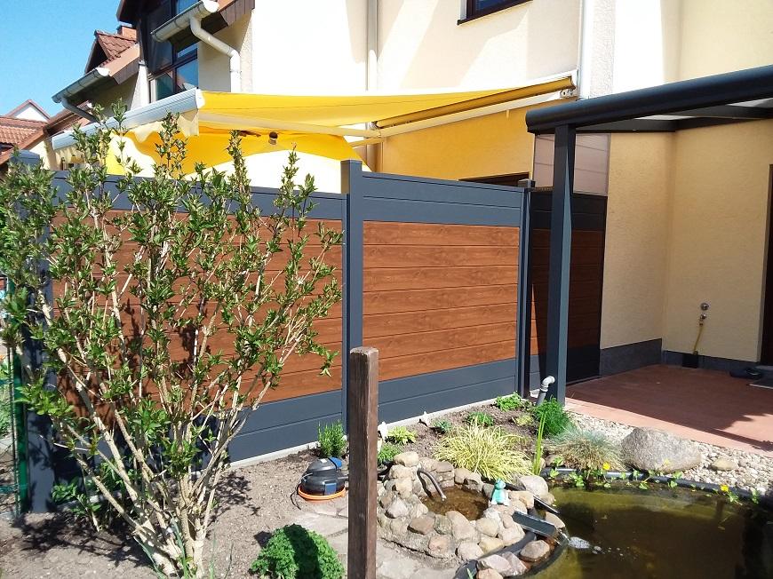 Sichtschutz Terrasse Kunststoff Anthrazit