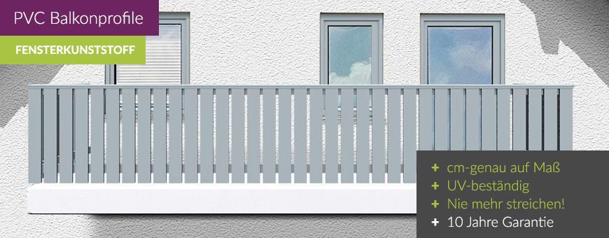 Berühmt Balkonbretter Kunststoff Silbergrau | Hier **auf Maß** kaufen UZ39