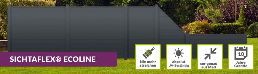 Trendig Sichtschutz ECOline Anthrazit   Sichtschutzzaun-Shop.de AM49