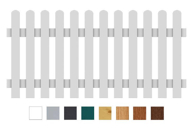 bausatz gartenzaun pvc kunststoff zaunelement 180 x 85 gerade. Black Bedroom Furniture Sets. Home Design Ideas
