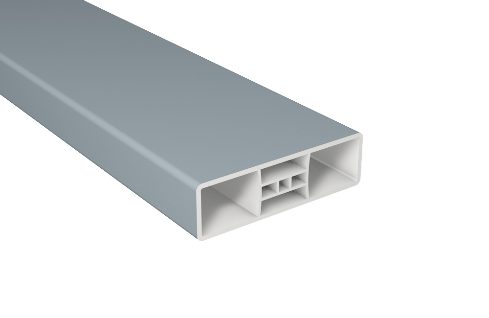 Zaunlatte PVC Kunststoff B85xT25 mm / Silbergrau
