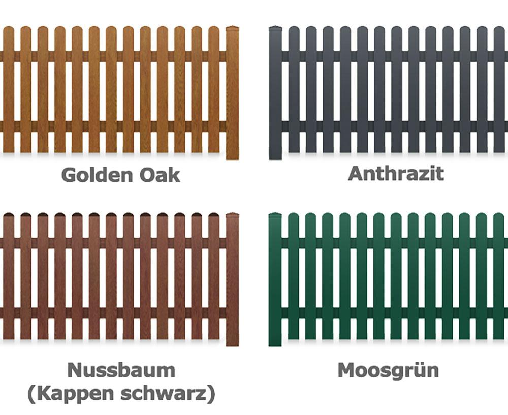 Bausatz Gartenzaun PVC Kunststoff Zaunelem 180 x 85 Oberbogen
