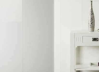 paneele gl nzend wei wandpaneel deckenpaneel pvc wandverkleidung gl nzend wei b187 x t8 x l1200. Black Bedroom Furniture Sets. Home Design Ideas
