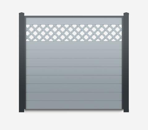 Anthrazit-Silbergrau : Sichtschutzzaun Kunststoff grau ...