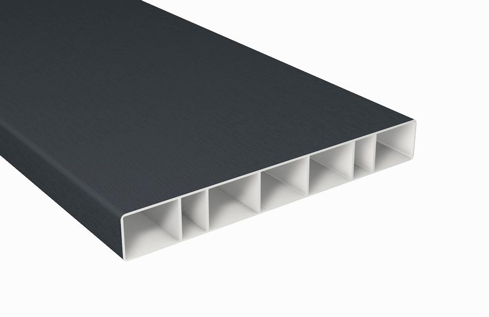 z alt erledigt balkonbrett kunststoff anthrazit hohlkammerprofil 150x20. Black Bedroom Furniture Sets. Home Design Ideas
