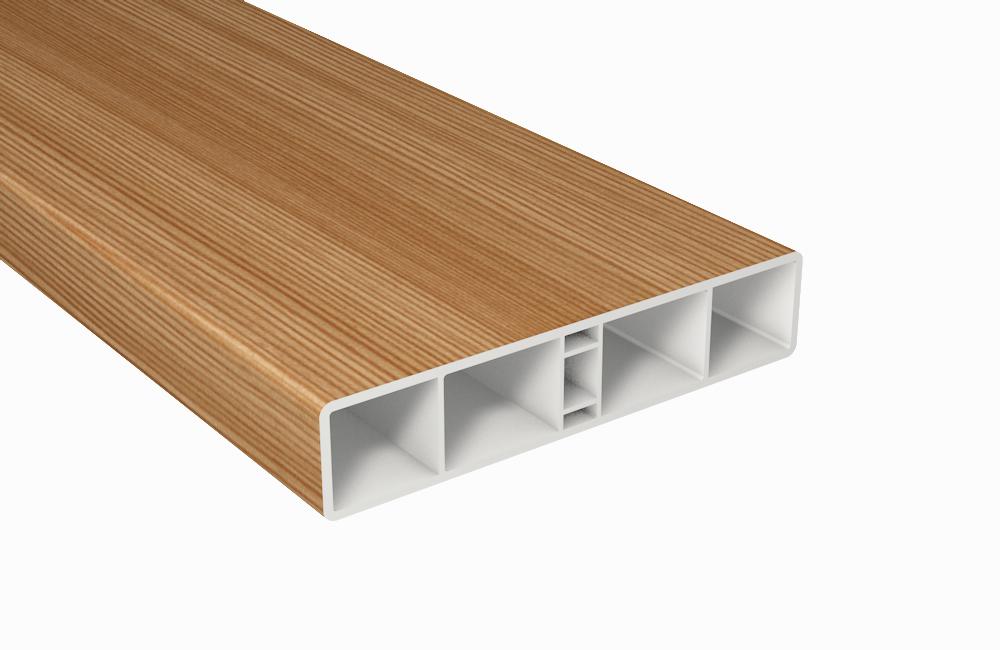 alt profile balkonbrett kunststoff bergkiefer hohlkammerprofil 120x25. Black Bedroom Furniture Sets. Home Design Ideas