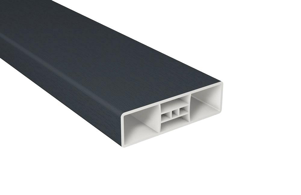 Zaunlatte PVC Kunststoff B85xT25 mm / Anthrazit