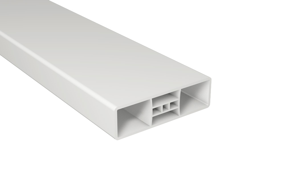 Zaunlatte PVC Kunststoff B85xT25 mm / Weiß