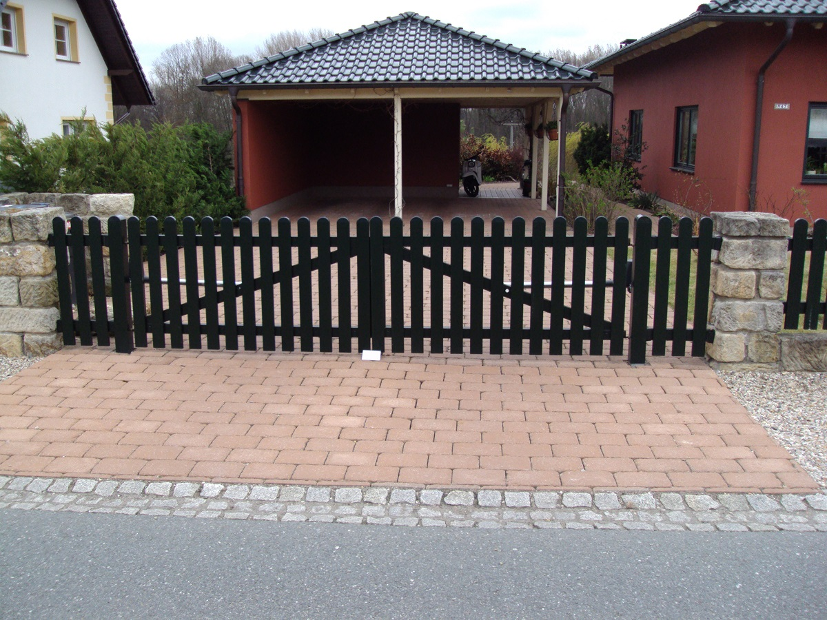 Weiss Tore 2 Flugel Gartentor Einfahrtstor Gerade Pvc Kunststoff