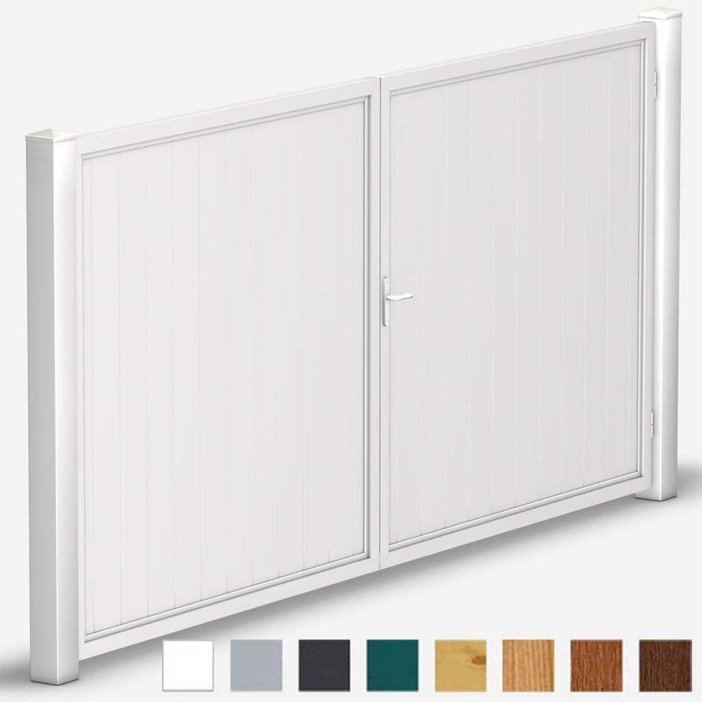 wei sichtschutz hoftor gerade aus kunststoff bis 400x200 wei oder farbig. Black Bedroom Furniture Sets. Home Design Ideas