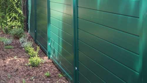 Sichtschutzelemente Kunststoff : Sichtschutzelemente Kunststoff Weib  Moosgrün  Sichtschutzzaun