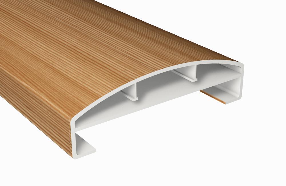 bergkiefer profile handlauf kunststoff bergkiefer hohlkammerprofil b150xt45 mm. Black Bedroom Furniture Sets. Home Design Ideas