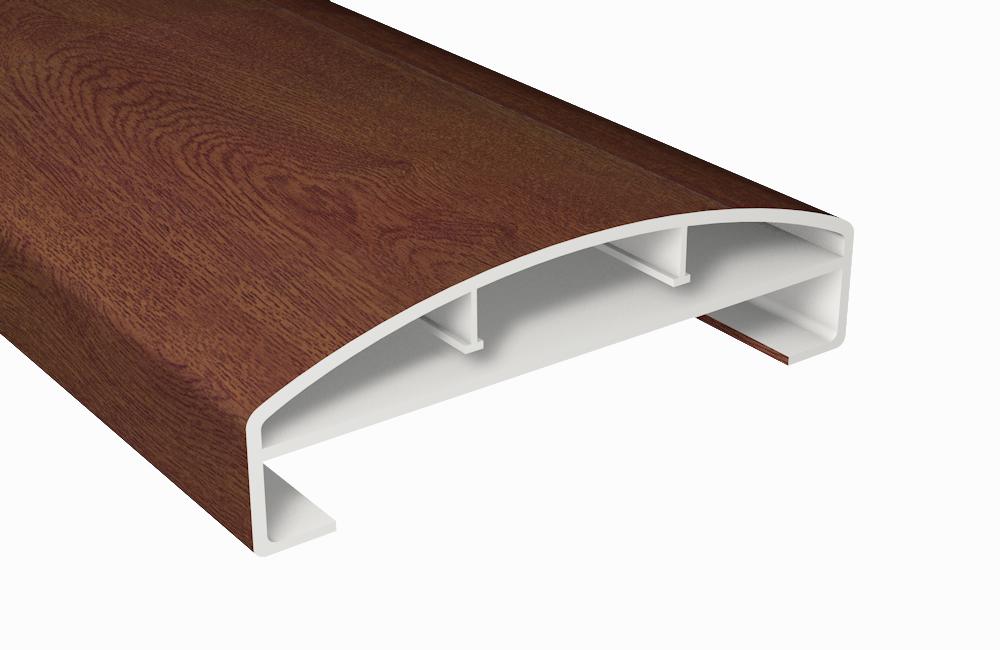 z alt erledigt handlauf kunststoff nussbaum hohlkammerprofil150x45. Black Bedroom Furniture Sets. Home Design Ideas