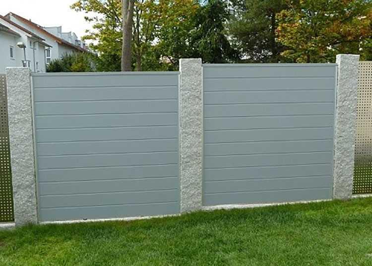 Silbergrau Ecoline Sichtschutzzaun Kunststoff Grau Ecoline