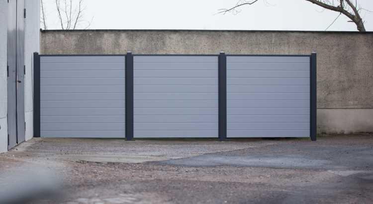 Silbergrau Anthrazit Ecoline Sichtschutzzaun Kunststoff Grau