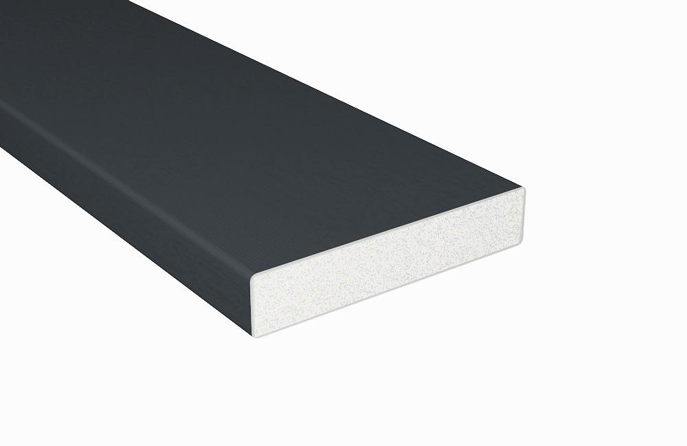 anthrazit profile balkonbrett kunststoff anthrazit vollschaumprofil b100xt20 mm. Black Bedroom Furniture Sets. Home Design Ideas