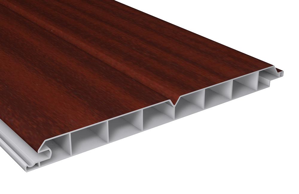 pvc au enpaneele au enverkleidung kunststoff mahagoni pvc paneel b200xt17. Black Bedroom Furniture Sets. Home Design Ideas