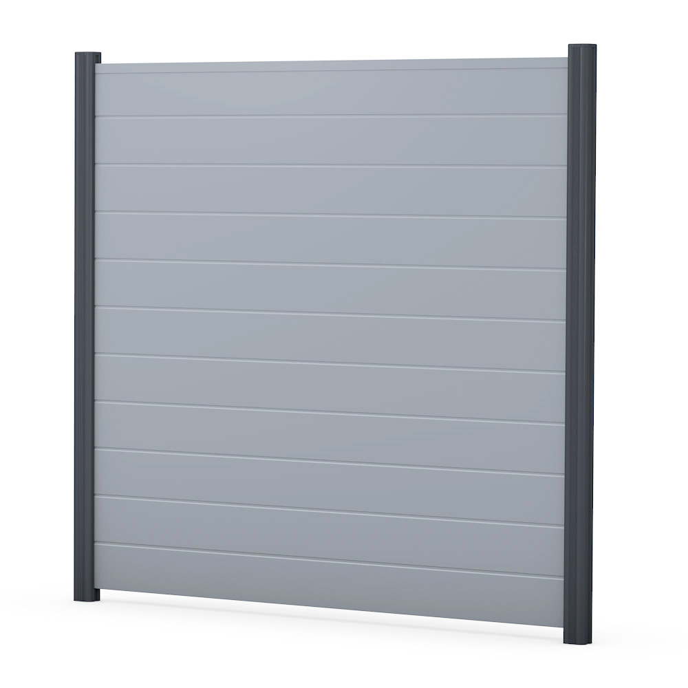 Grau Sichtschutzzaun PVC Kunststoff Grau BASICline Element