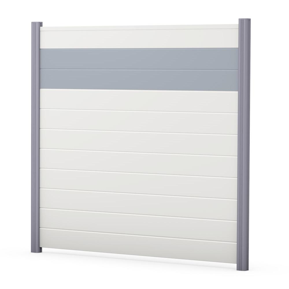 weiß Sichtschutzzaun PVC Kunststoff weiß grau BASICline