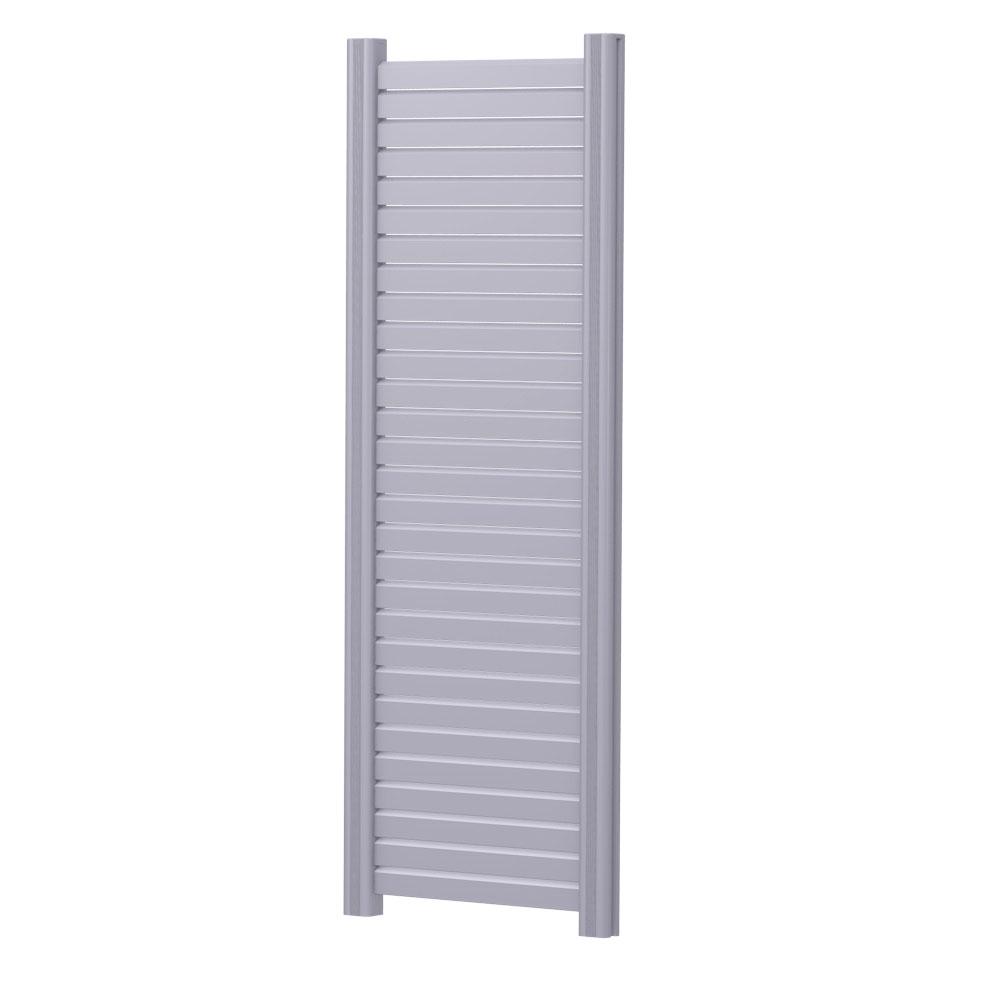 Sichtschutzzaun Metall Rhombus 60x180 Perldunkelgrau
