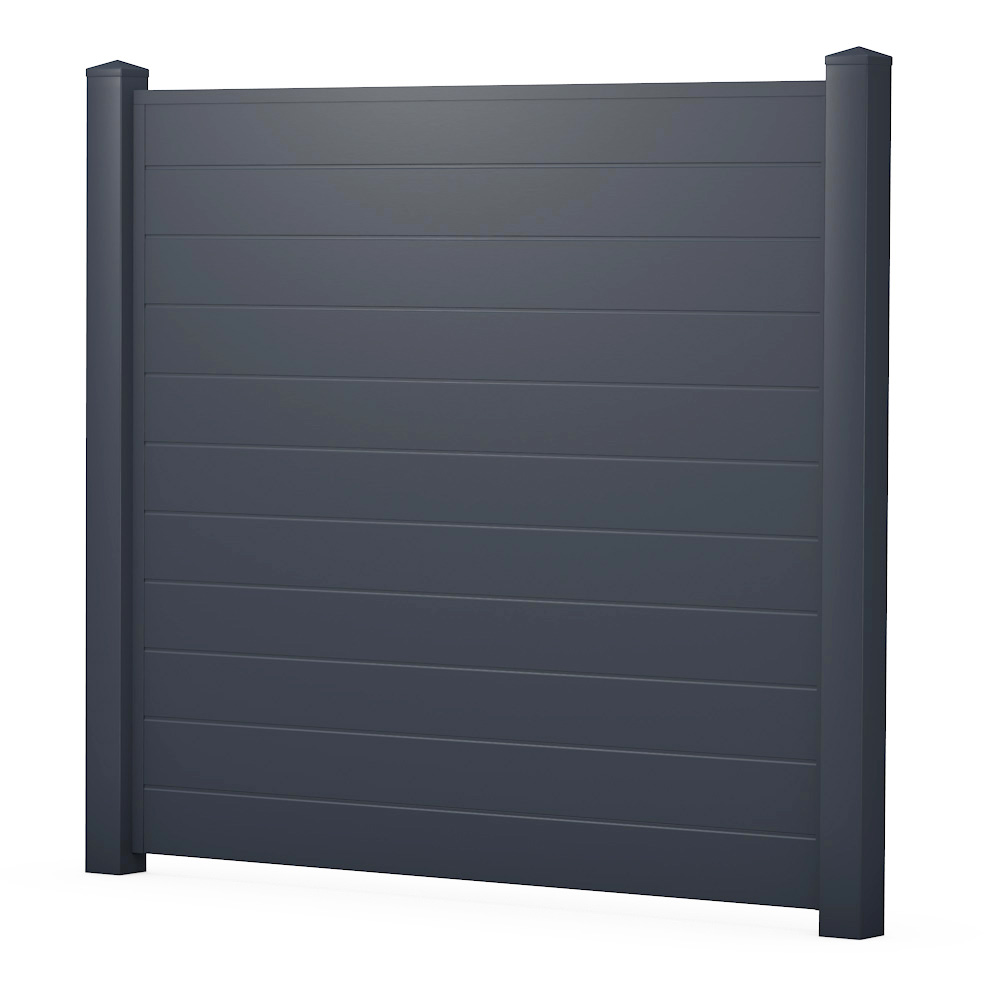 z alt erledigt sichtschutzzaun kunststoff anthrazit ecoline element 180 dicht. Black Bedroom Furniture Sets. Home Design Ideas