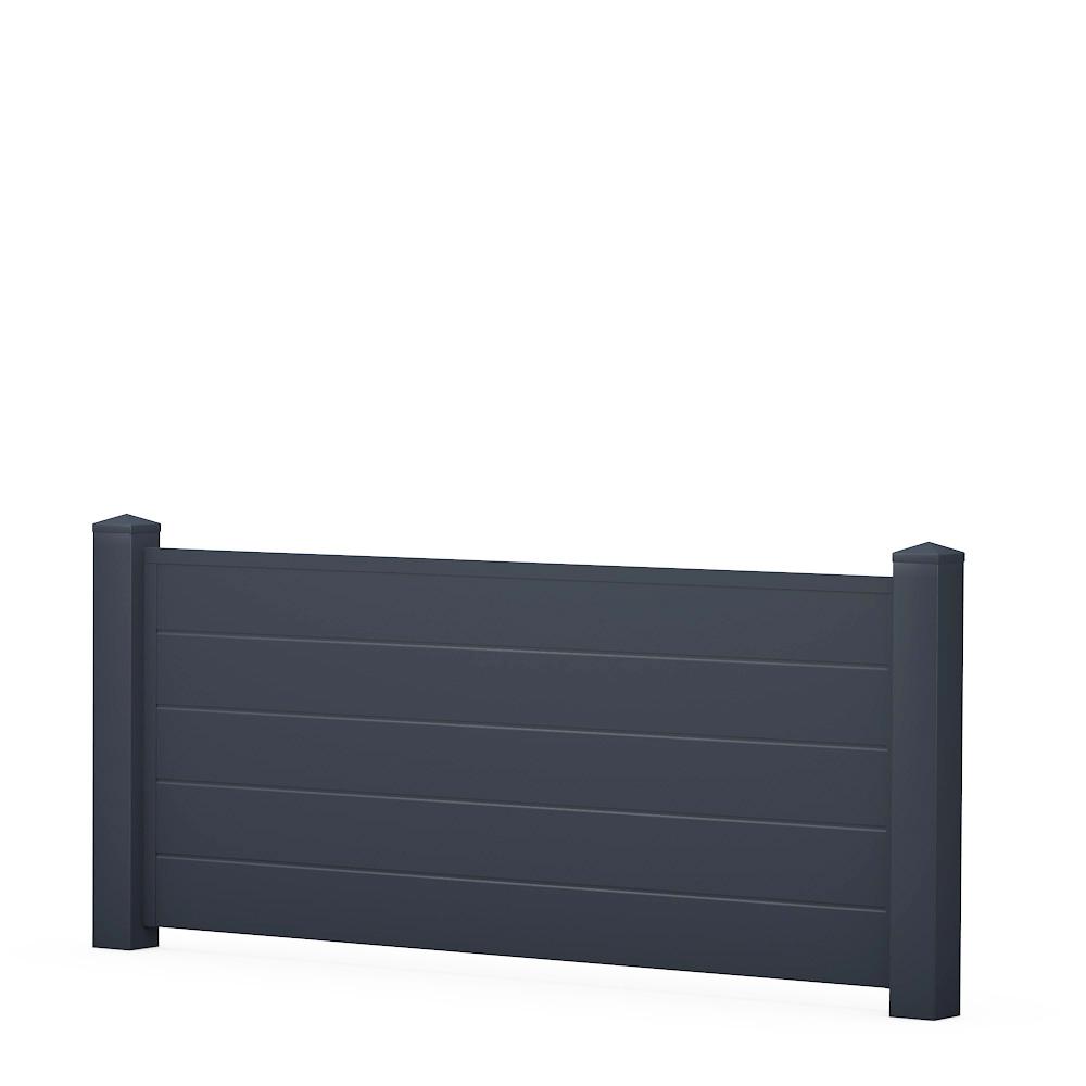 anthrazit ecoline sichtschutzzaun kunststoff anthrazit ecoline element 180 dicht. Black Bedroom Furniture Sets. Home Design Ideas