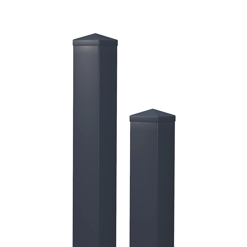 Sichtschutz Weiß-Anthrazit / Kunststoff / PVC / SICHTAFLEX / blickdicht