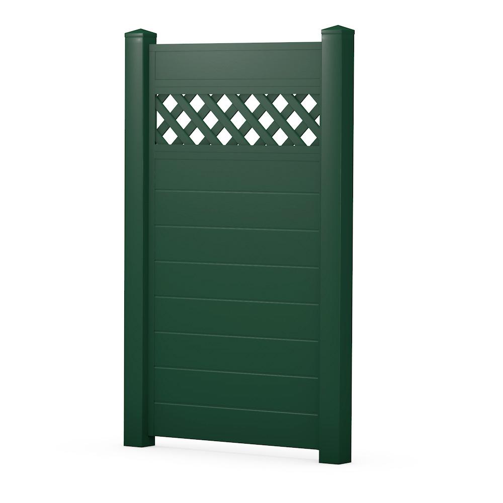 Moosgrün Sichtschutzzaun Kunststoff Grün ECOline Element 90 Gitter