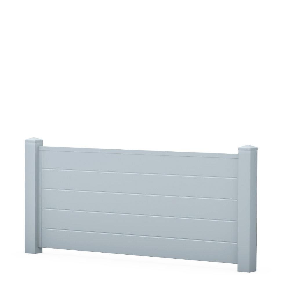 Hier Sichtschutzzaun Element Halbhoch Pvc Kunststoff Grau