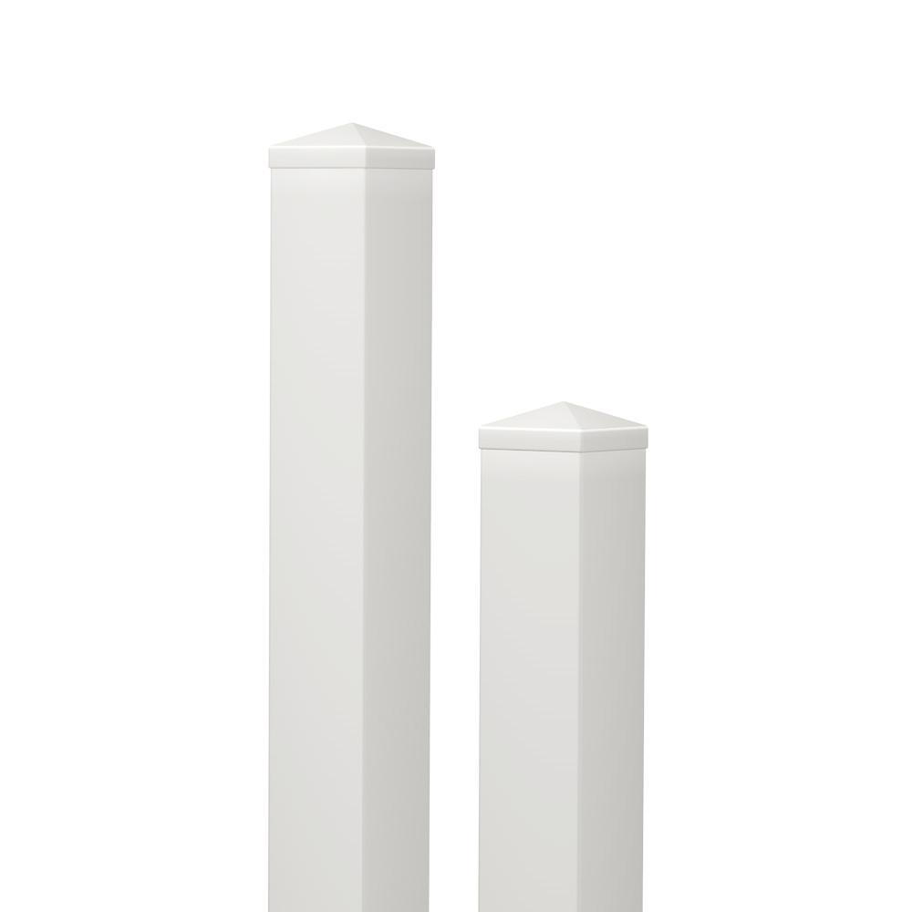 PVC Pfosten 10 x 10 | inkl. Pfostenkappe | Weiß