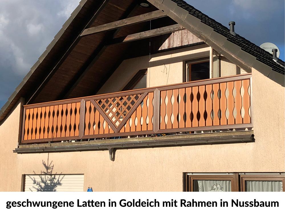 Gut gemocht Golden Oak (Profile) : Balkonbrett geschwungen | Kunststoff RF72
