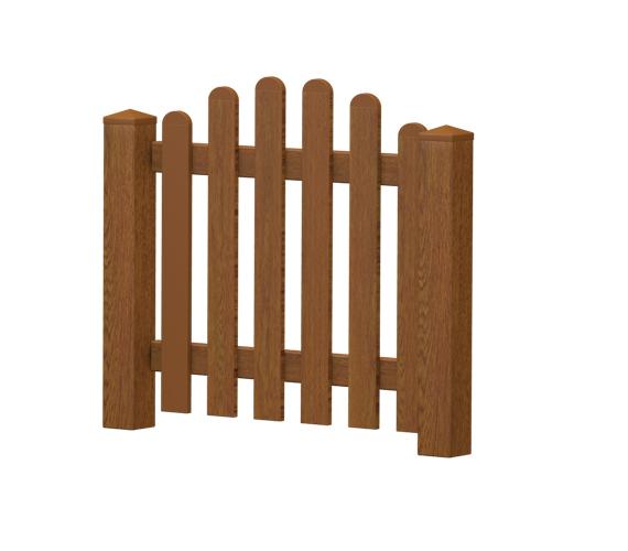 Gartenpforte | Kunststoff | Oberbogen | VORMONTIERT - Golden Oak
