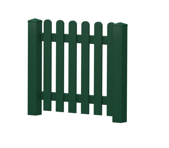 Gartenpforte | Kunststoff | gerade | VORMONTIERT - Moosgrün