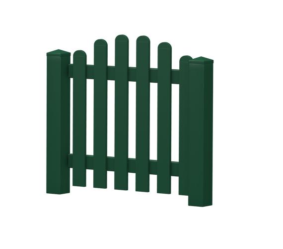 Gartenpforte | Kunststoff | Oberbogen | VORMONTIERT - Moosgrün