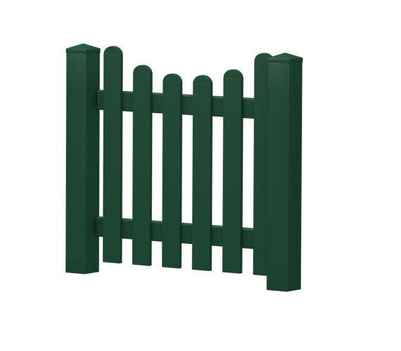 Gartenpforte | Kunststoff | Unterbogen | VORMONTIERT - Moosgrün