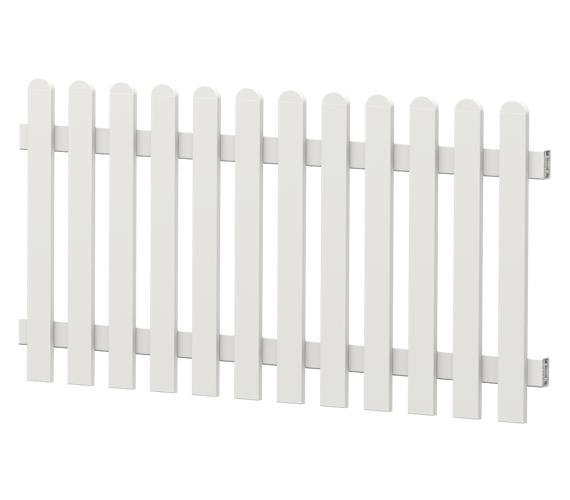 Gartenzaun-Element (Lattenzaun) | PVC-Kunststoff | Gerade - Weiß | BAUSATZ