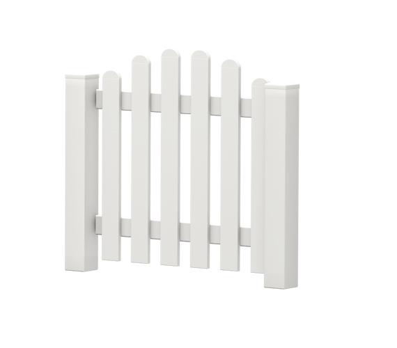 Gartenpforte | Kunststoff | Oberbogen | VORMONTIERT - Weiß