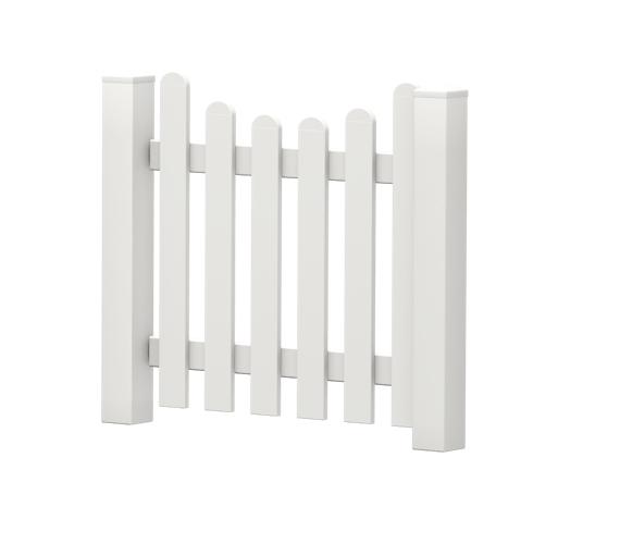 Gartenpforte | Kunststoff | Unterbogen | VORMONTIERT - Weiß