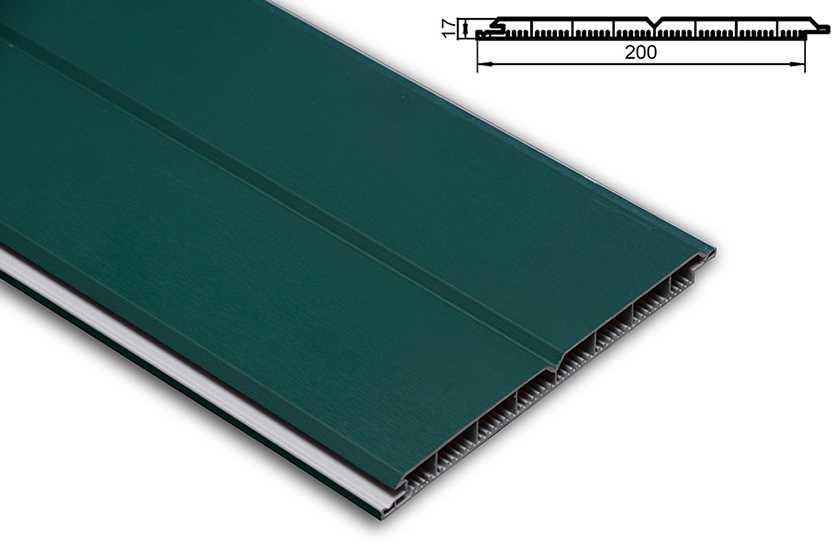 alt profile torf llung kunststoff gr n pvc paneel 200x17. Black Bedroom Furniture Sets. Home Design Ideas