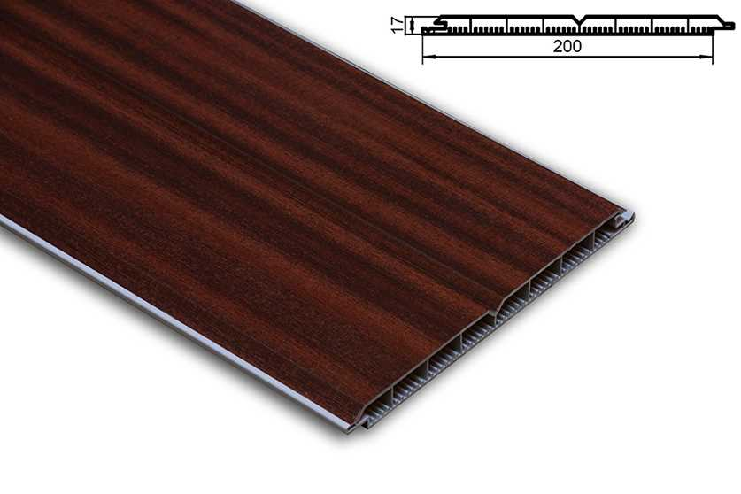 pvc torf llpaneele torf llung kunststoff mahagoni pvc paneel 200x17. Black Bedroom Furniture Sets. Home Design Ideas
